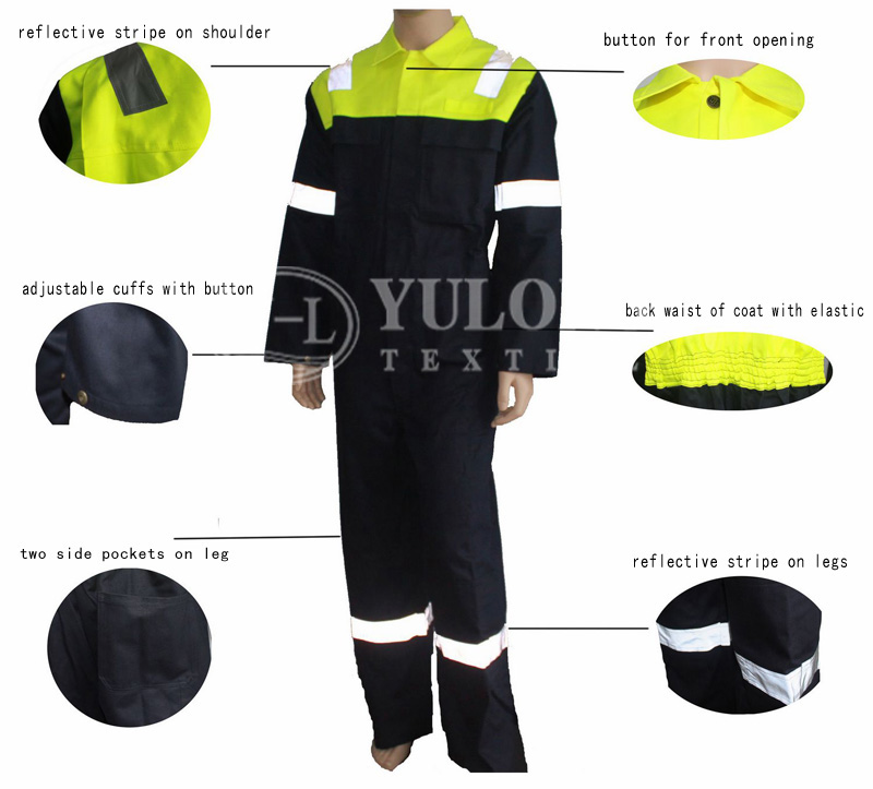 Cotton Nylon FR Protective Workwear from Yulong Textile