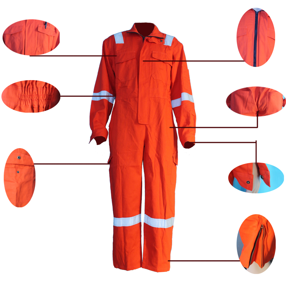 high visibility orange coveralls from Yulong Textile