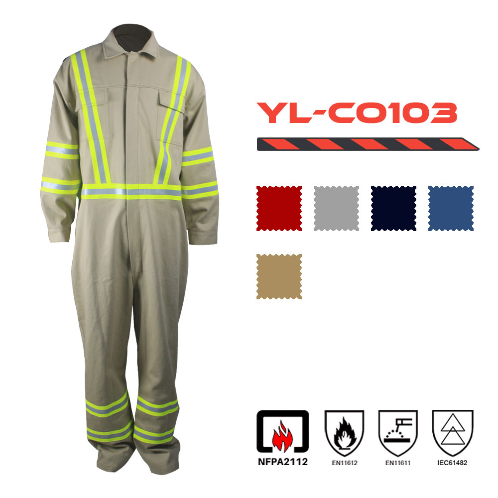 Cotton Nylon Fire Retardant Coverall