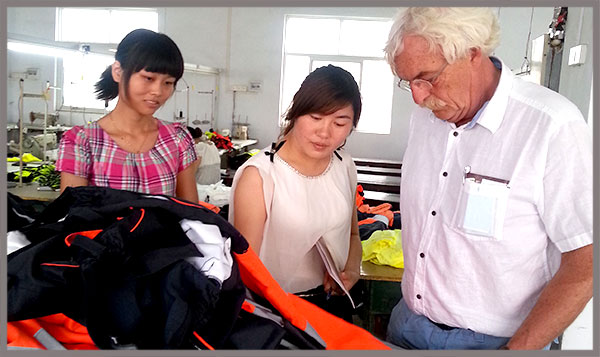 Xinxiang Yulong Textile Received European Customers Come to Our Factory Inspection
