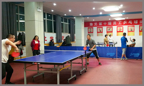 Yulong Textile Held Table Tennis Match