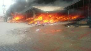 "Fire Accident occurred in Islamabad ""Sunday market"""
