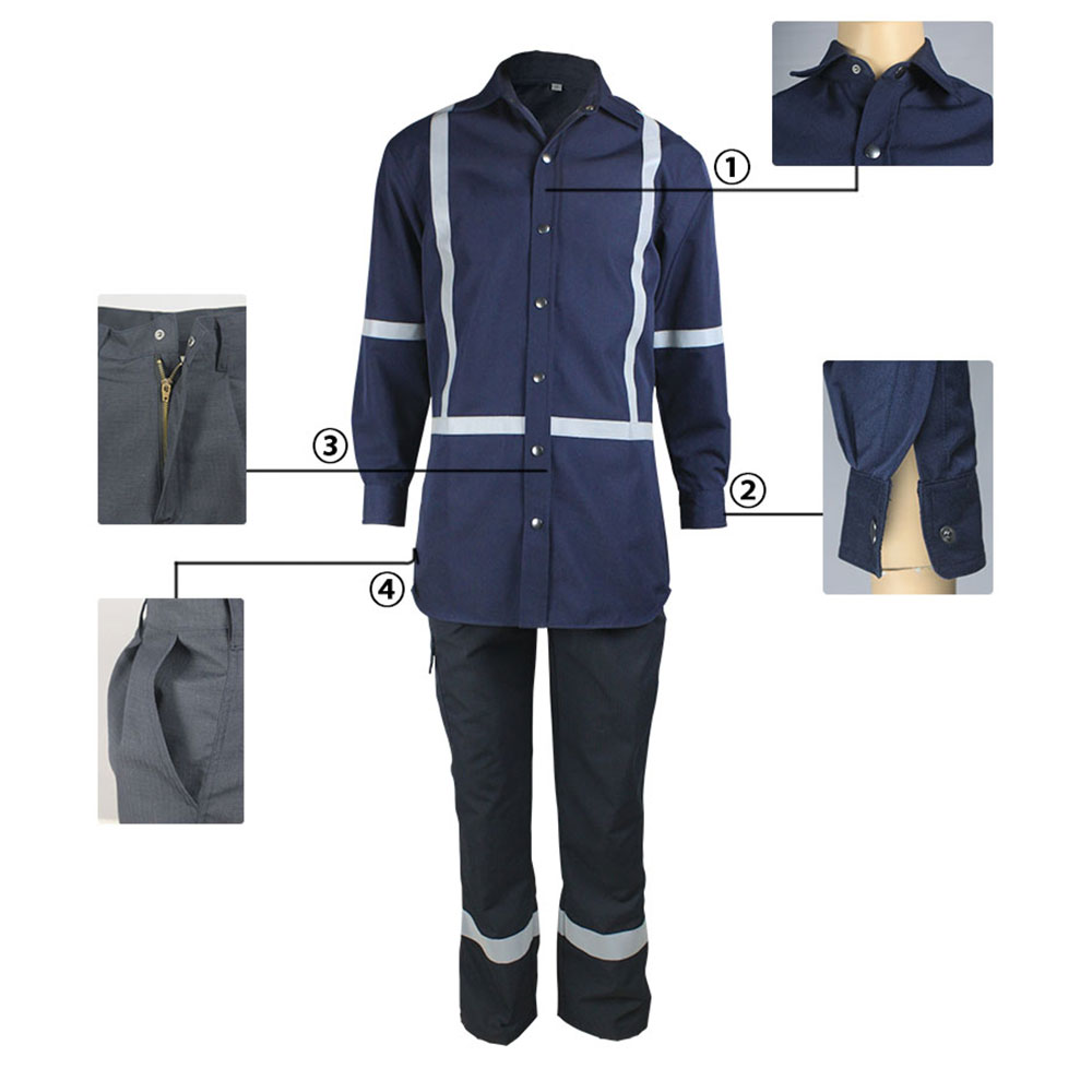 flame retardant anti static suit