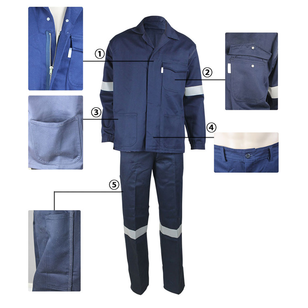 navy blue arc proof anti-static garment