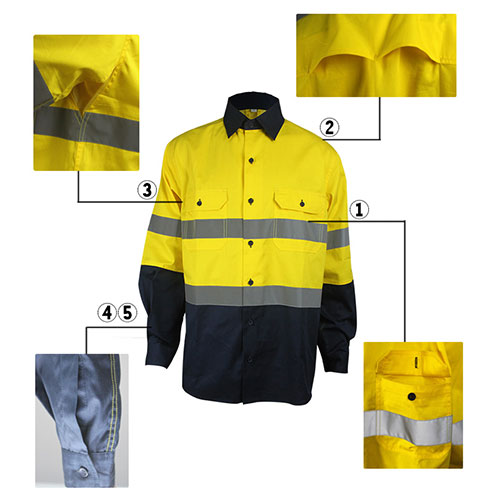 flame retardant antistatic shirt