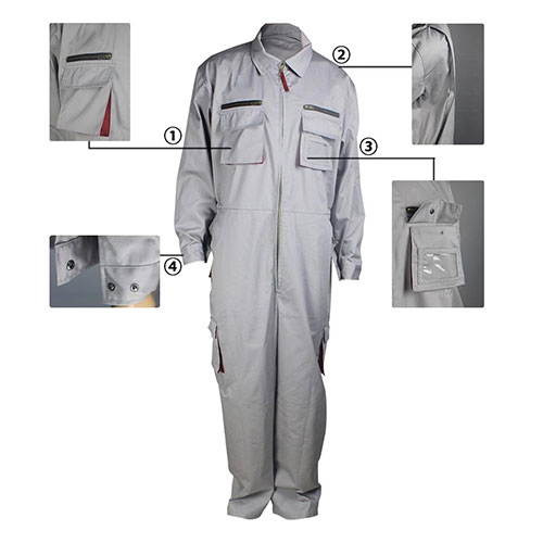 flame resistant anti-static coverall