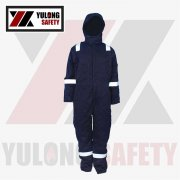 Manufacture Service EN11612 Breathable Washing Fireproof Anti-static Soft Industry With High visibility tape Safety Workwear