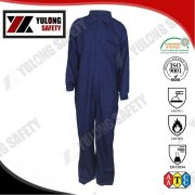 Navy Water protective Flame Retardant Workwear Padded Overalls, View Flame Retardant Workwear, Yulong Textile Product Details