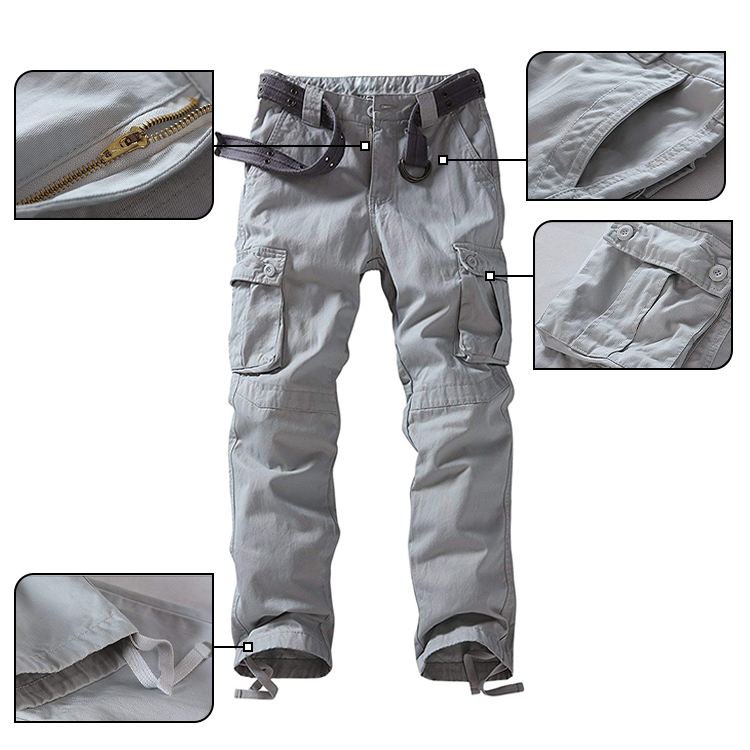 Men's Long Trousers Casual Work Pants Labor Insurance Multi-Pocket Pants