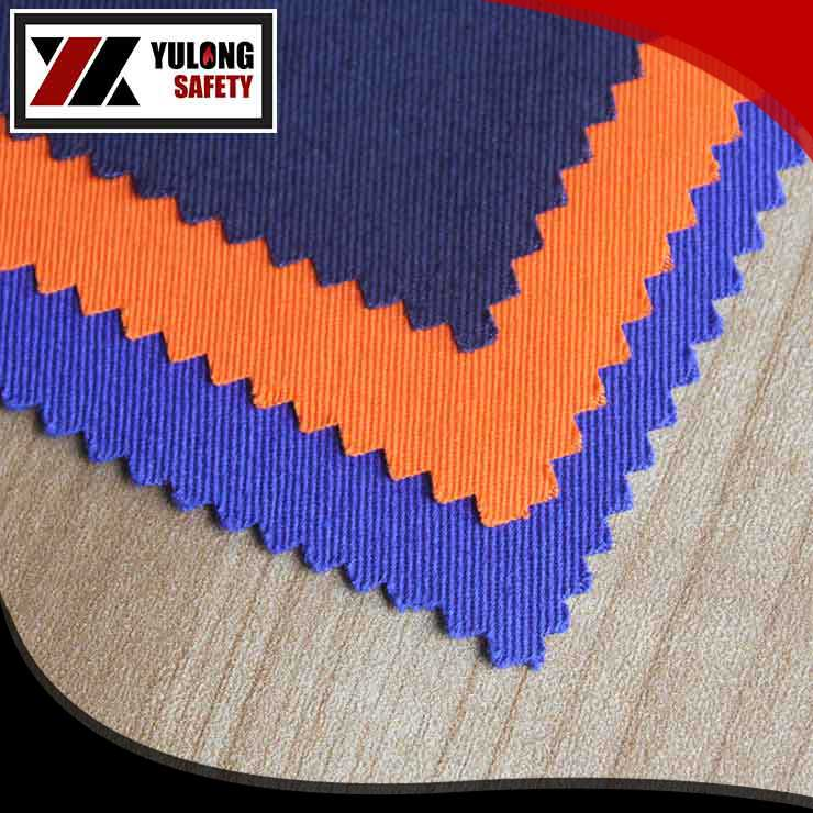 full cotton elastic fire retardant fabric 260g