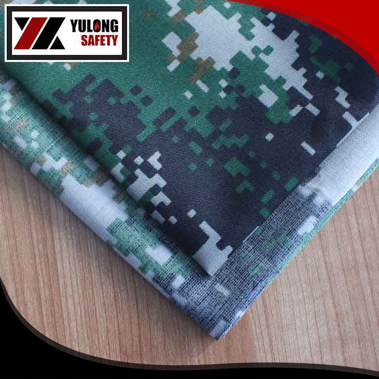 Camouflage fire retardant fabric